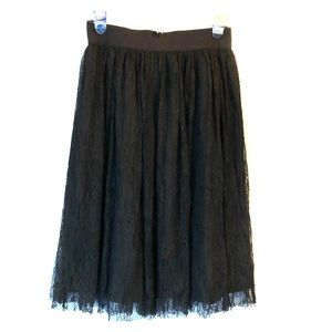 Black Lace Skirt by Forever 21